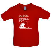 Fishing - He'll Drink Beer All Day Kids T Shirt