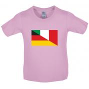 Half German Half Italian Flag Kids T Shirt