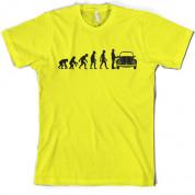 Evolution of Man Beetle Owner T Shirt