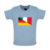 Half German Half Italian Flag Baby T Shirt