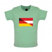 Half German Half Austrian Flag Baby T Shirt