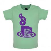 Drop beats not Bombs Baby T Shirt