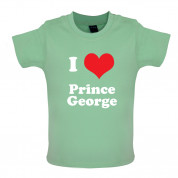 I Love Prince George Baby T Shirt