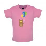 1st Birthday Bear Baby T Shirt