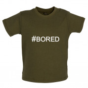#Bored (Hashtag) Baby T Shirt