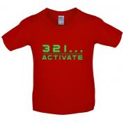 321…Activate Kids T Shirt