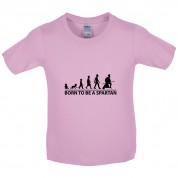 Born To Be A Spartan Kids T Shirt