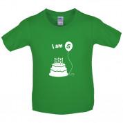 I Am 5 Kids Birthday T Shirt