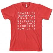 7 Catholic Virtues T Shirt