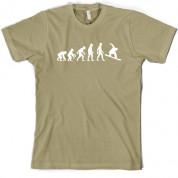 Evolution of Man Snowboarding T Shirt