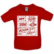 Biff Pow Bam Comic book Kids T Shirt