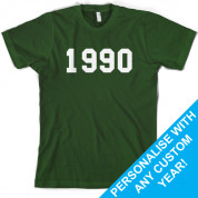 Custom College Style Birthday T Shirt