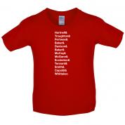 13 Doctors Kids T Shirt