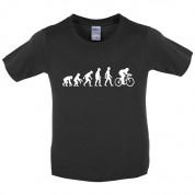 Evolution of Man Cycling Kids T Shirt
