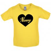 Heart Nanny Kids T Shirt