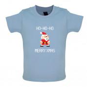 8 Bit Santa Pixel Baby T Shirt