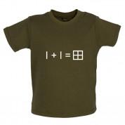 1 + 1 = Window Baby T Shirt
