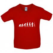 Evolution Of Man Artist Kids T Shirt