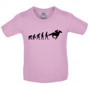 Evolution of Man Horse Riding Kids T Shirt