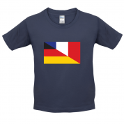 Half German Half French Flag Kids T Shirt