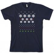 Christmas Snow Flake Tree T Shirt