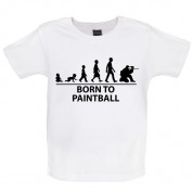 Born to Paintball Baby T Shirt