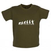 Evolution of Man Bass Guitar Player Baby T Shirt