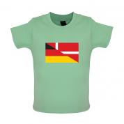 Half German Half Danish Flag Baby T Shirt