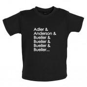 Adler & Anderson & Bueller & Bueller & Bueller Baby T Shirt