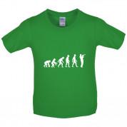 Evolution of Man Trumpet Player Kids T Shirt