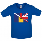 Half Barbados Half UK Kids T Shirt