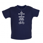 A Man Who Can Ride in Manhattan can Ride anywhere Baby T Shirt