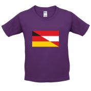 Half German Half Austrian Flag Kids T Shirt