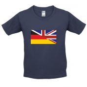 Half German Half British Flag Kids T Shirt