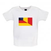 Half German Half Romanian Flag Baby T Shirt