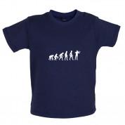 Evolution of Man Violinist Baby T Shirt