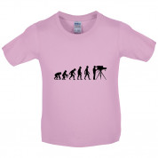 Evolution of Man Cameraman Kids T Shirt