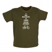 A Man Who Can Ride in London can Ride anywhere Baby T Shirt