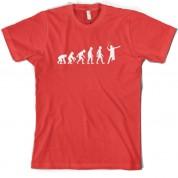 Evolution of Man Badminton T Shirt