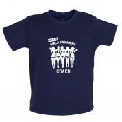 Amateur Girls Swimming Coach Baby T Shirt