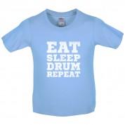Eat Sleep Drum Repeat Kids T Shirt