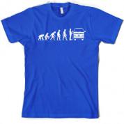 Evolution of Man Bay Camper T Shirt