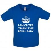 I Am Cuter Than The Royal Baby Kids T Shirt