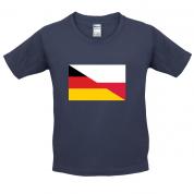 Half German Half Polish Flag Kids T Shirt