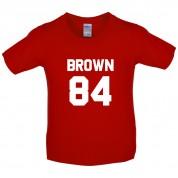 Brown 84 Kids T Shirt