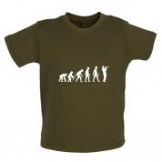 Evolution of Man Trumpet Player Baby T Shirt