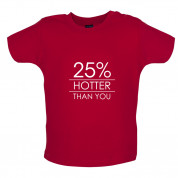 25% Hotter Than You Baby T Shirt