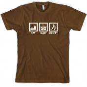 Eat Sleep Cricket T Shirt