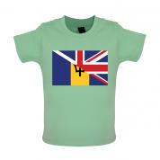Half Barbados Half UK Baby T Shirt