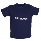 #Princess (Hashtag) Baby T Shirt